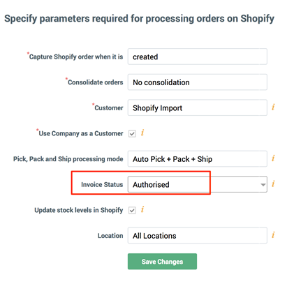 FAQ Shopify Integration DEAR Support Team - Shopify create invoice for service business