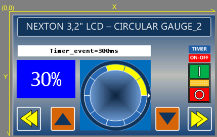 Circular Gauge With Timer Event ITEAD Studio