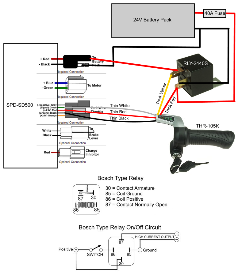 compatibility of controller and throttle help electricscooterparts Currie Three Battery Wiring Diagram