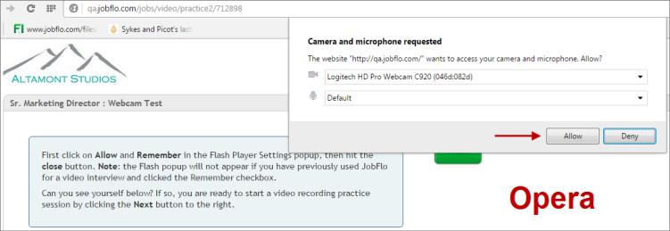 My Webcam Isn't Working in Chrome or Opera : JobFlo Help Center