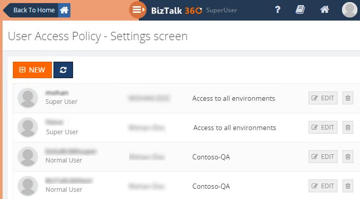 biztalk360 users list