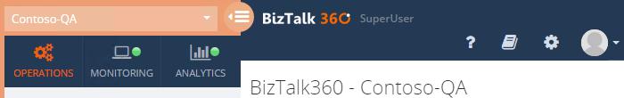 logged as biztalk360 super user