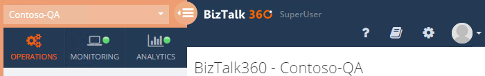 BizTalk360 super user window