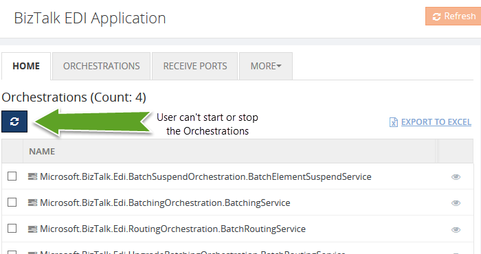 biztalk application orchestration list