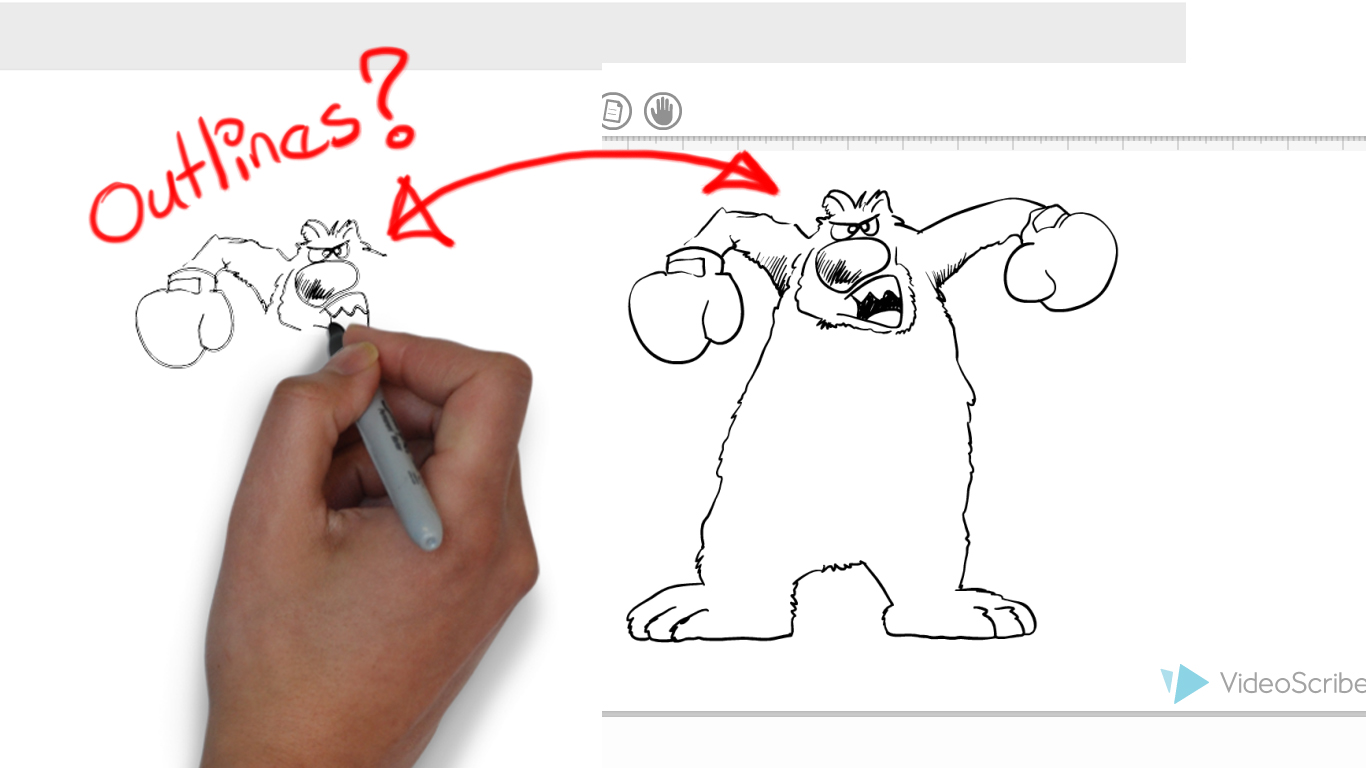 How I can prevent VideoScribe draw outlines? : VideoScribe