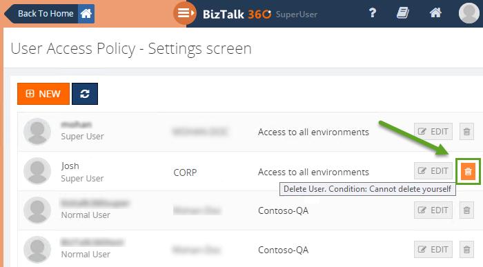 deleting users in biztalk360