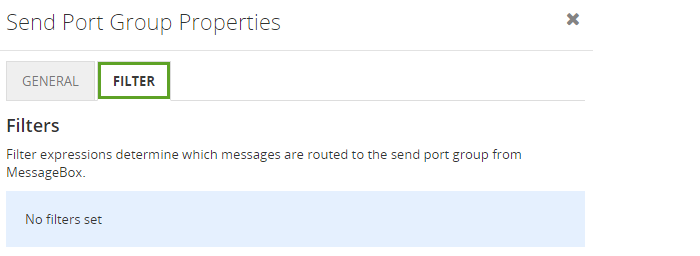 send port group properties filter