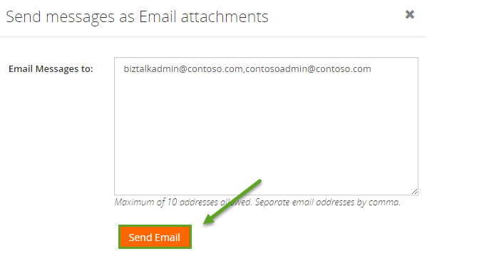 send biztalk messages as email attachment