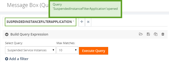 opening a suspended instance message query