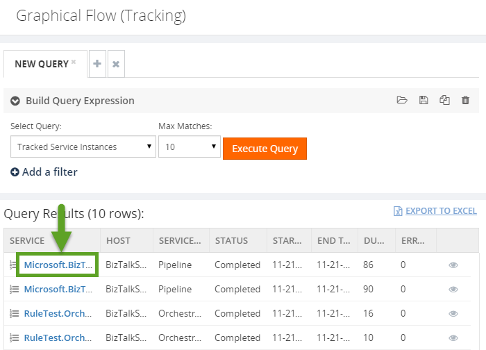 graphical flow of tracking information in biztalk360