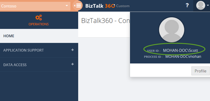 biztalk360 normal user access permissions for secure SQL queries