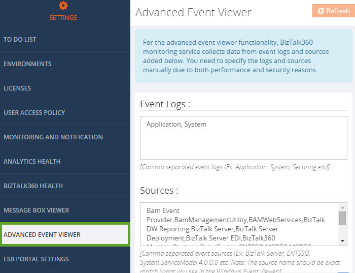 advanced event viewer home