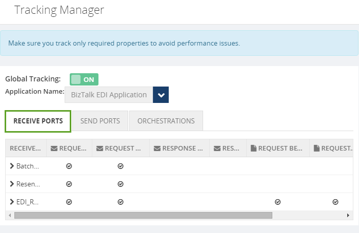 manage tracking in receive ports using biztalk360