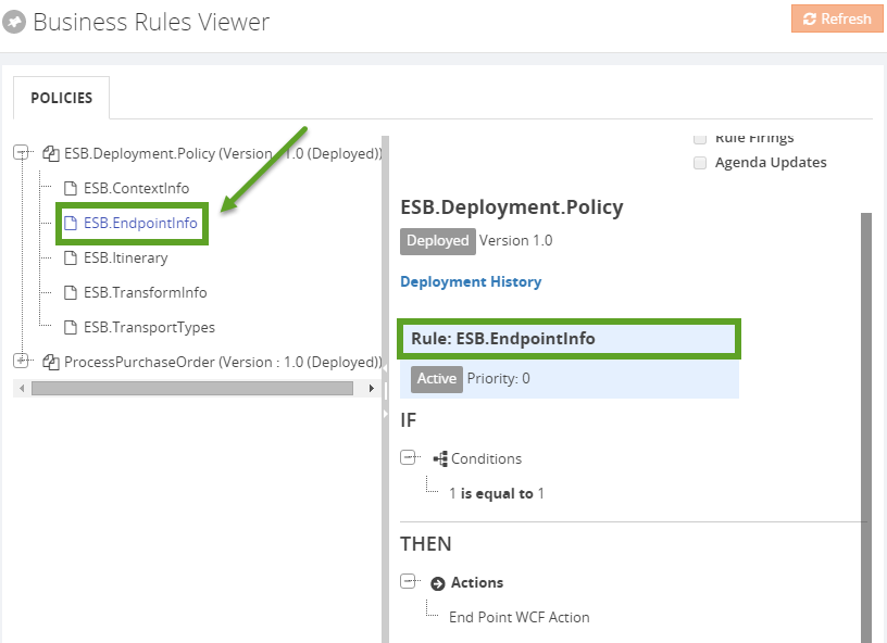 business rules viewer policies