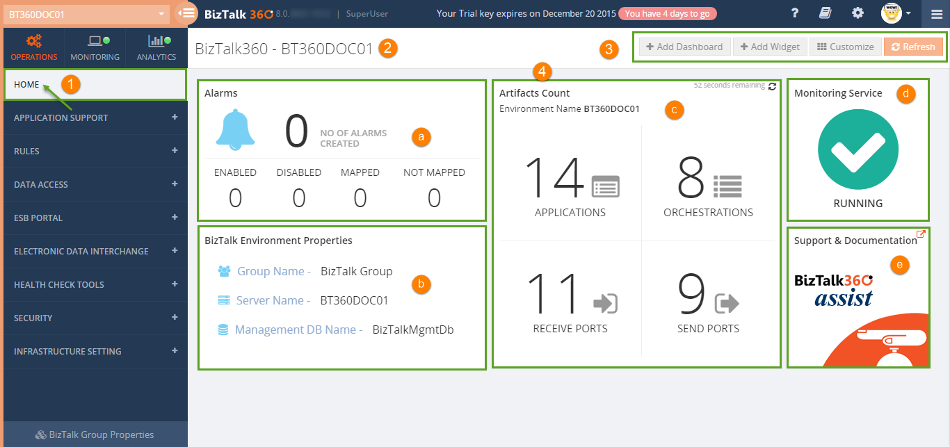 biztalk360 dashboard indepth look
