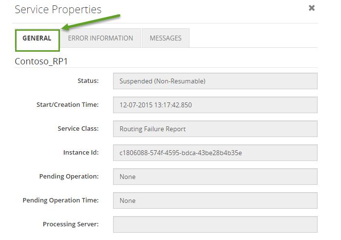 service instance properties
