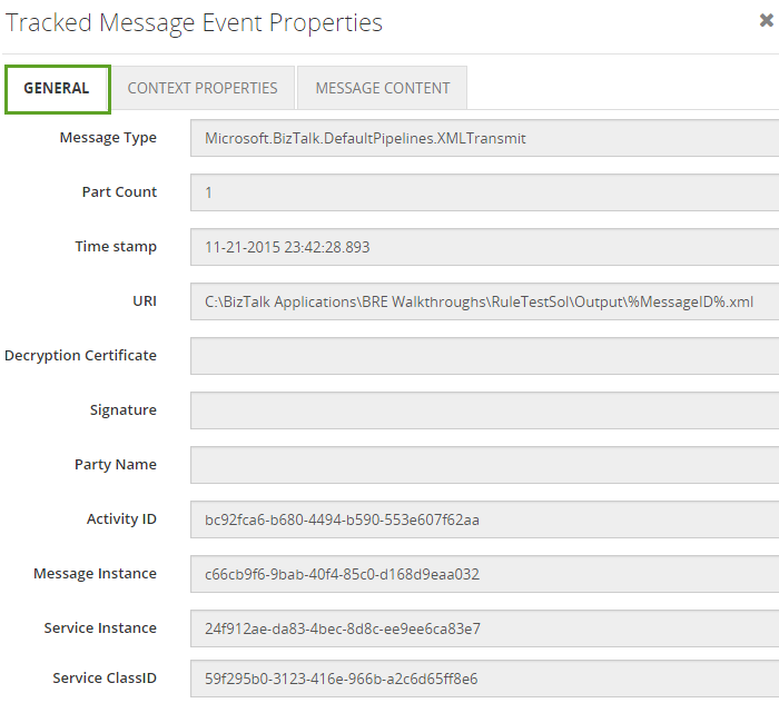 tracked-message-events-properties in biztalk360