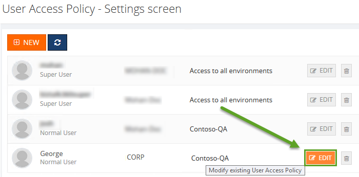 editing user access permissions in biztalk360