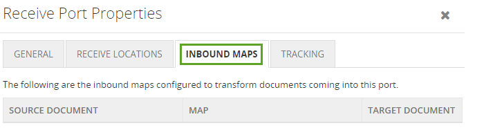 biztalk artifacts inbound maps details