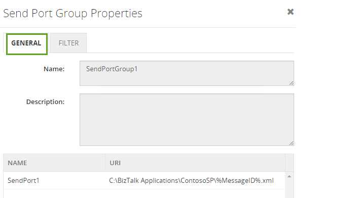 send port group properties in biztalk360