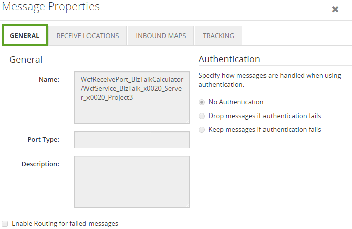 biztalk message properties details