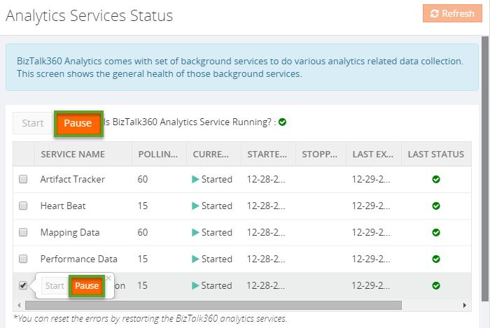 biztalk360 service status