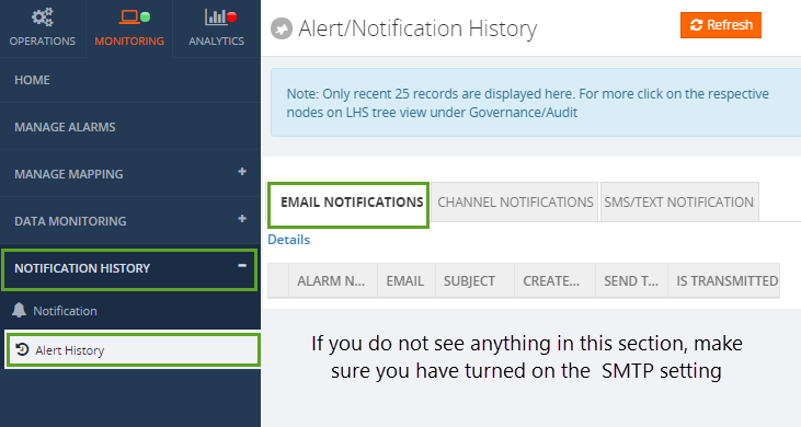 biztalk360 notification history window