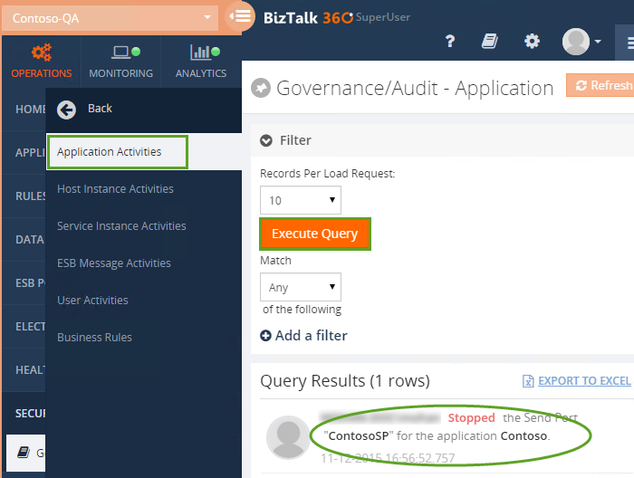 governance or audit in biztalk360