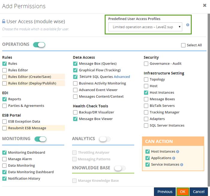 add new biztalk360 user access