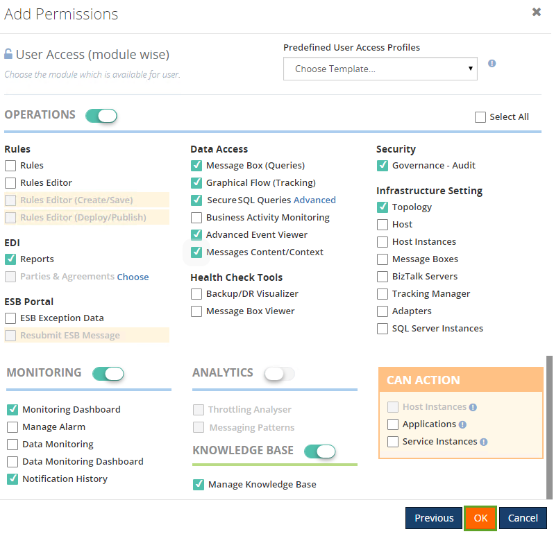 add permissions to a biztalk user
