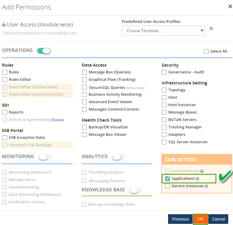 adding access permissions to biztalk users