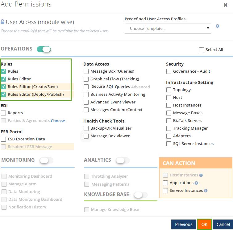 add user access permissions for biztalk users