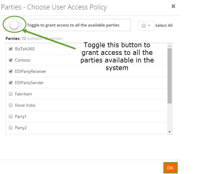 allow access to all system parties