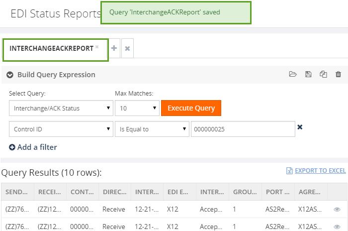 edi query saved in biztalk360