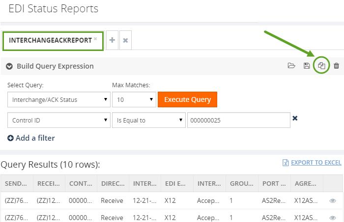 save as edi status report query in biztalk360