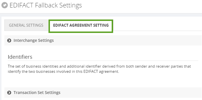 edifact agreement setting in biztalk360