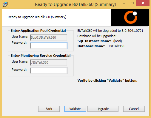upgrade biztalk360 summary window