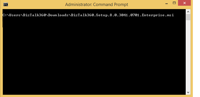 install using command prompt
