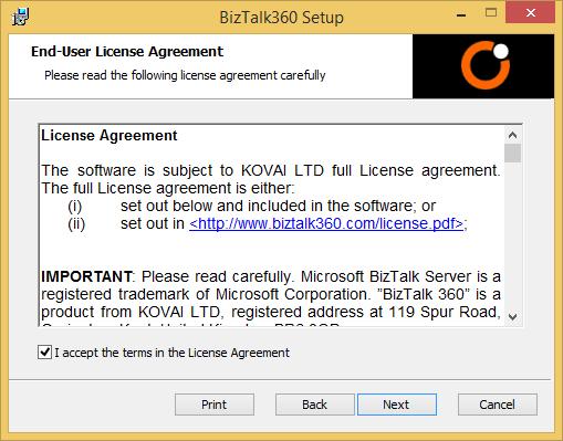 biztalk360 license agreement