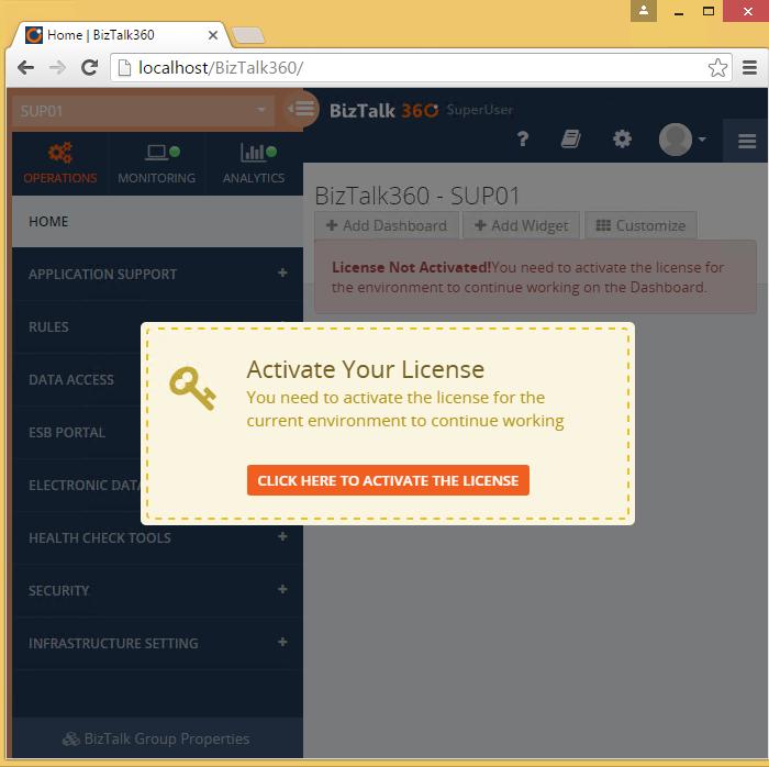 activate biztalk360 license