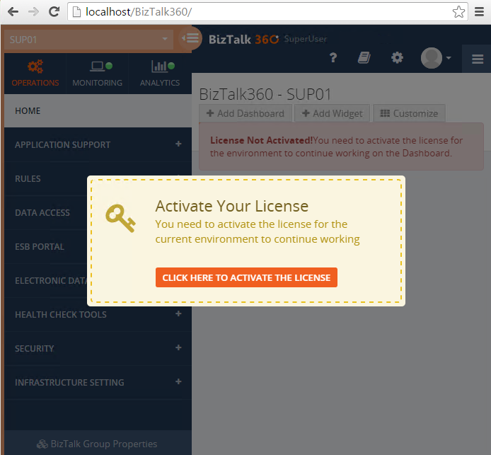 activate biztalk360 license