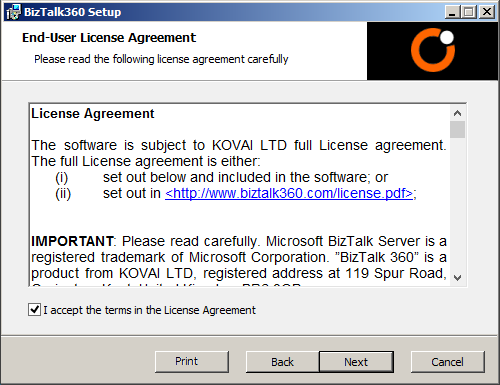biztalk360 license agreement