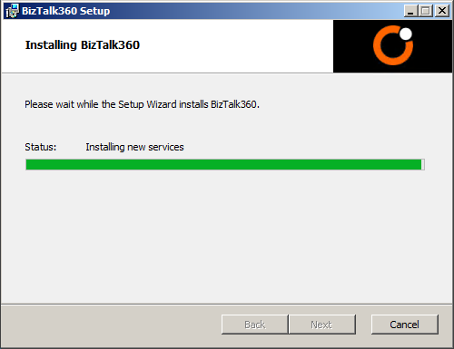 installing biztalk360 in progress