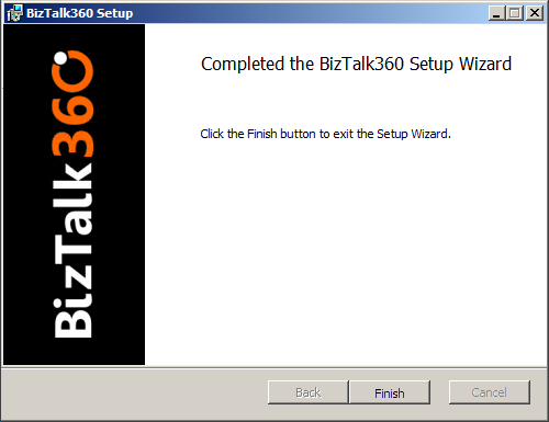 install biztalk360 successfully