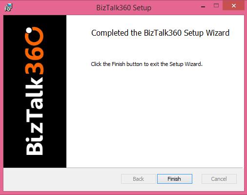 biztalk360 installation completed