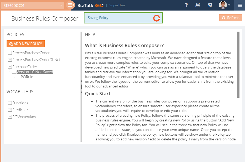 BizTalk360 Business Rule Composer quick start