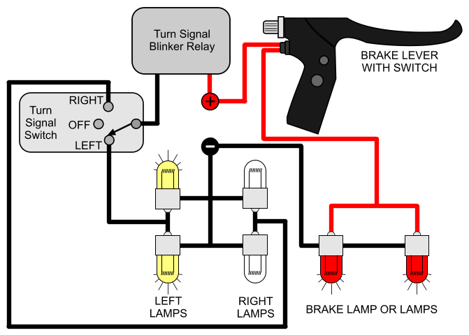 signal light wiring diagram wiring diagraminstalling turn signals electricscooterparts com supportif you are looking for a circuit where the turn signals