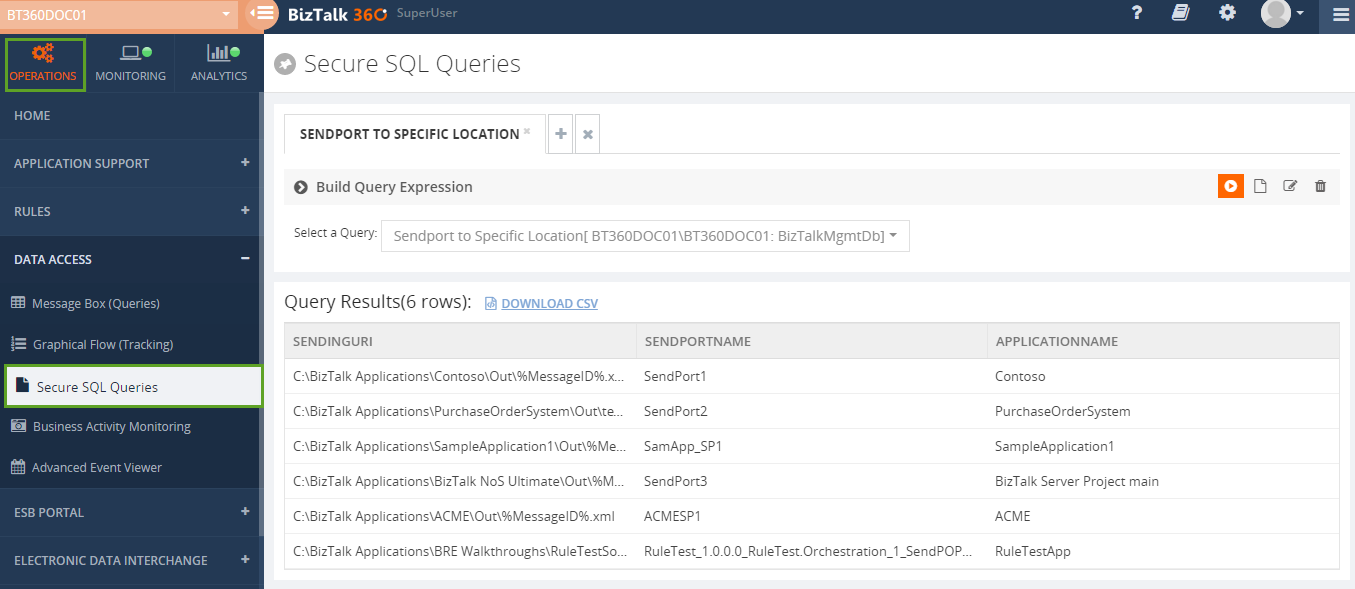secure sql queries