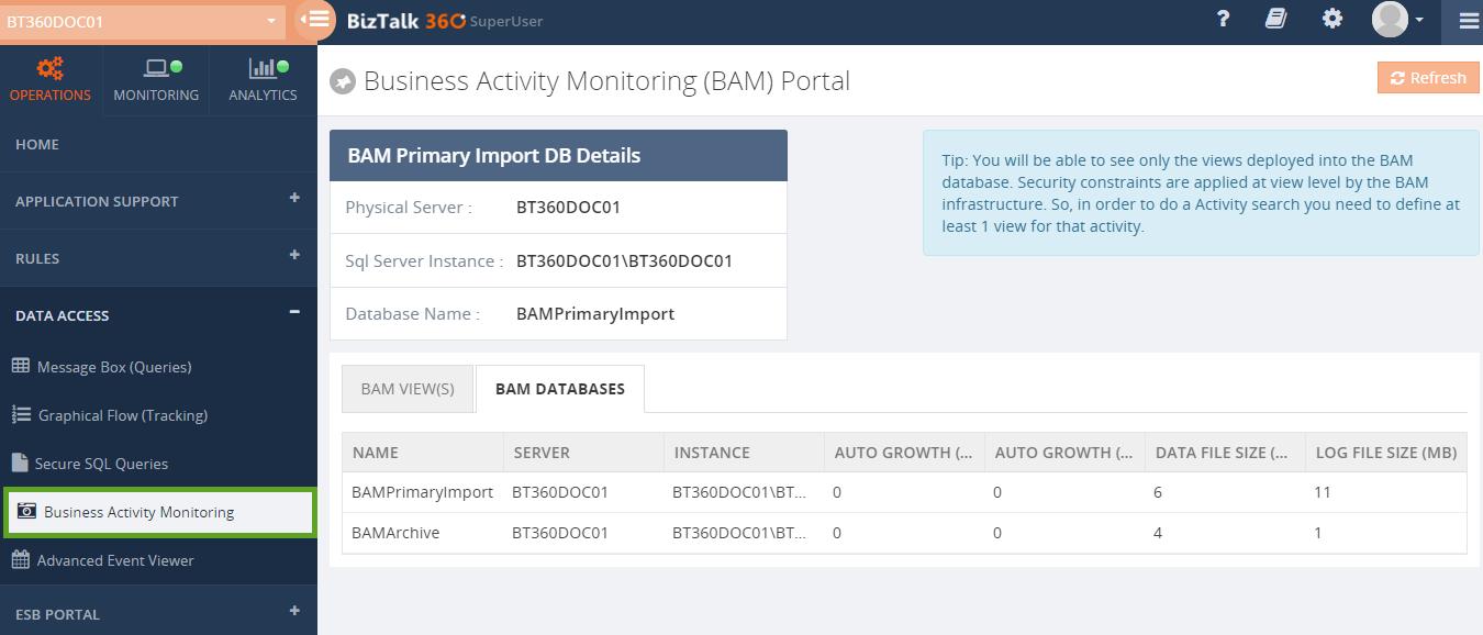 biztalk360 bam portal
