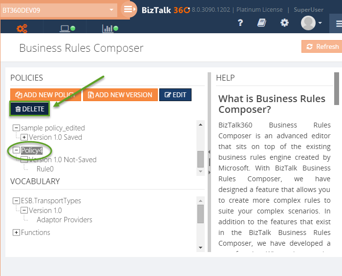 biztalk360 business rules composer